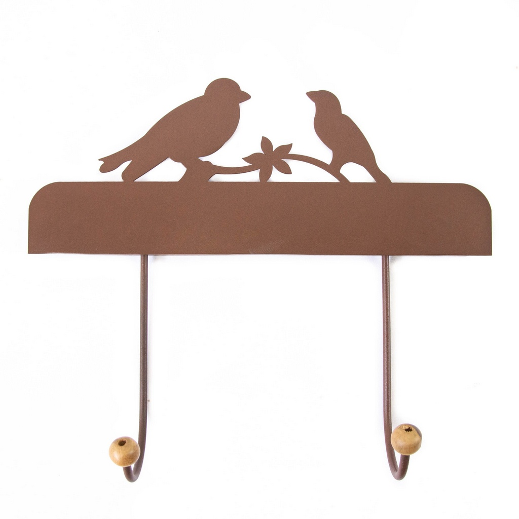 Cabide 2 Ganchos Pássaros