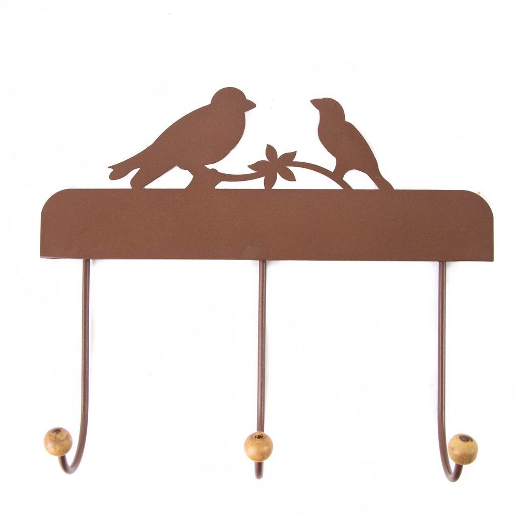 Cabide 3 Ganchos Pássaros