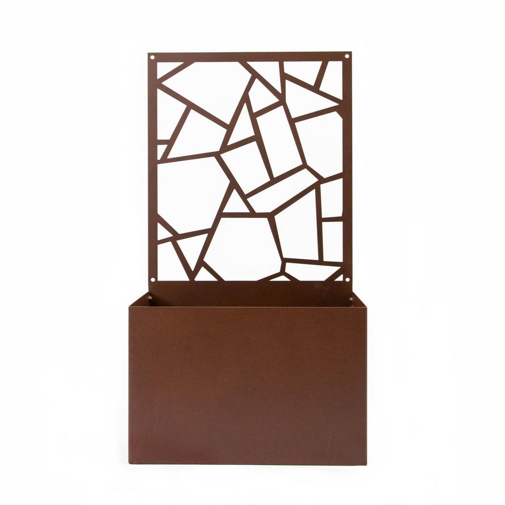 Cachepot Quadrados Irregulares Aço Galvanizado