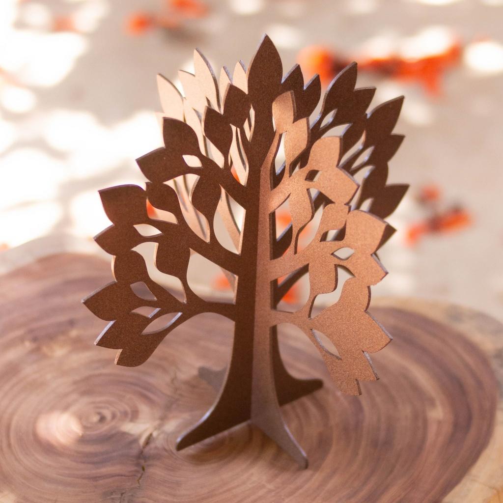 Escultura de Mesa Árvore com Encaixe