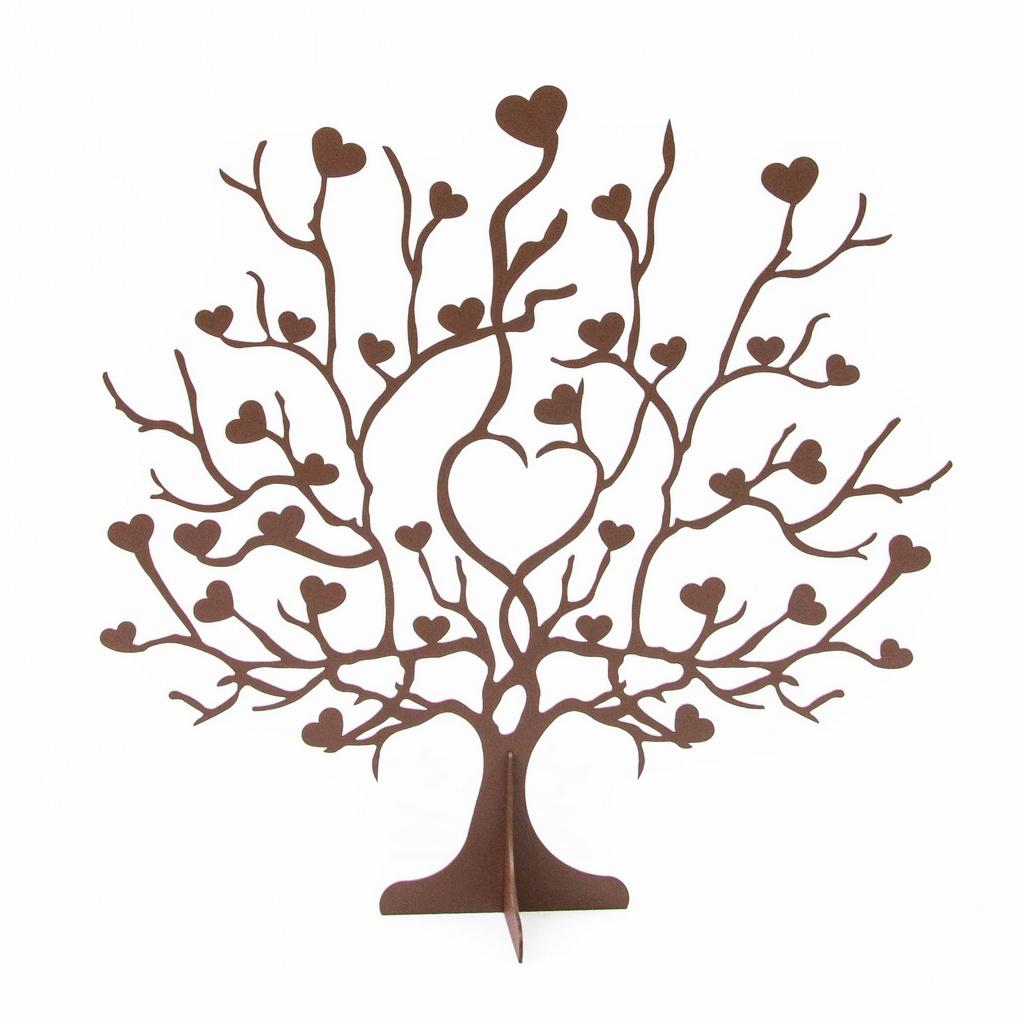 Escultura de Mesa Árvore Corações