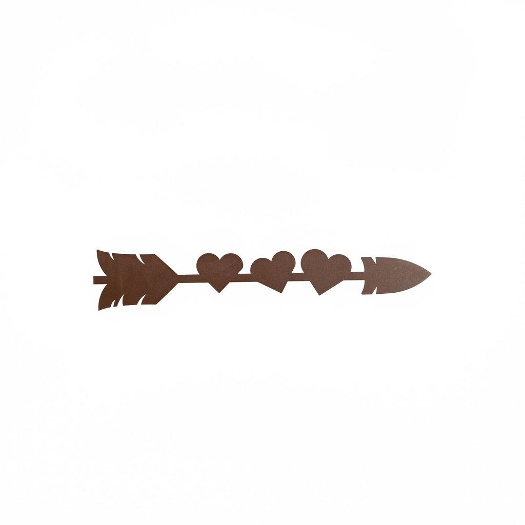 Escultura de Parede Flecha Corações