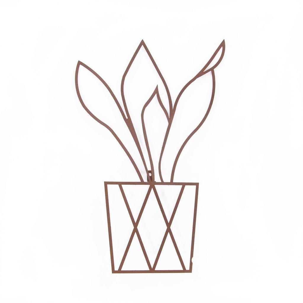 Escultura de Parede Origami Geométrico Vaso de Planta 2 Aço Galvanizado