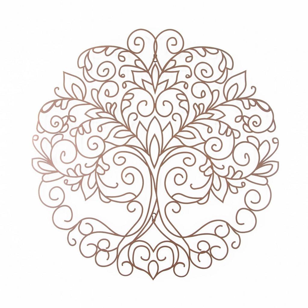 Mandala Árvore Celta Aço Galvanizado