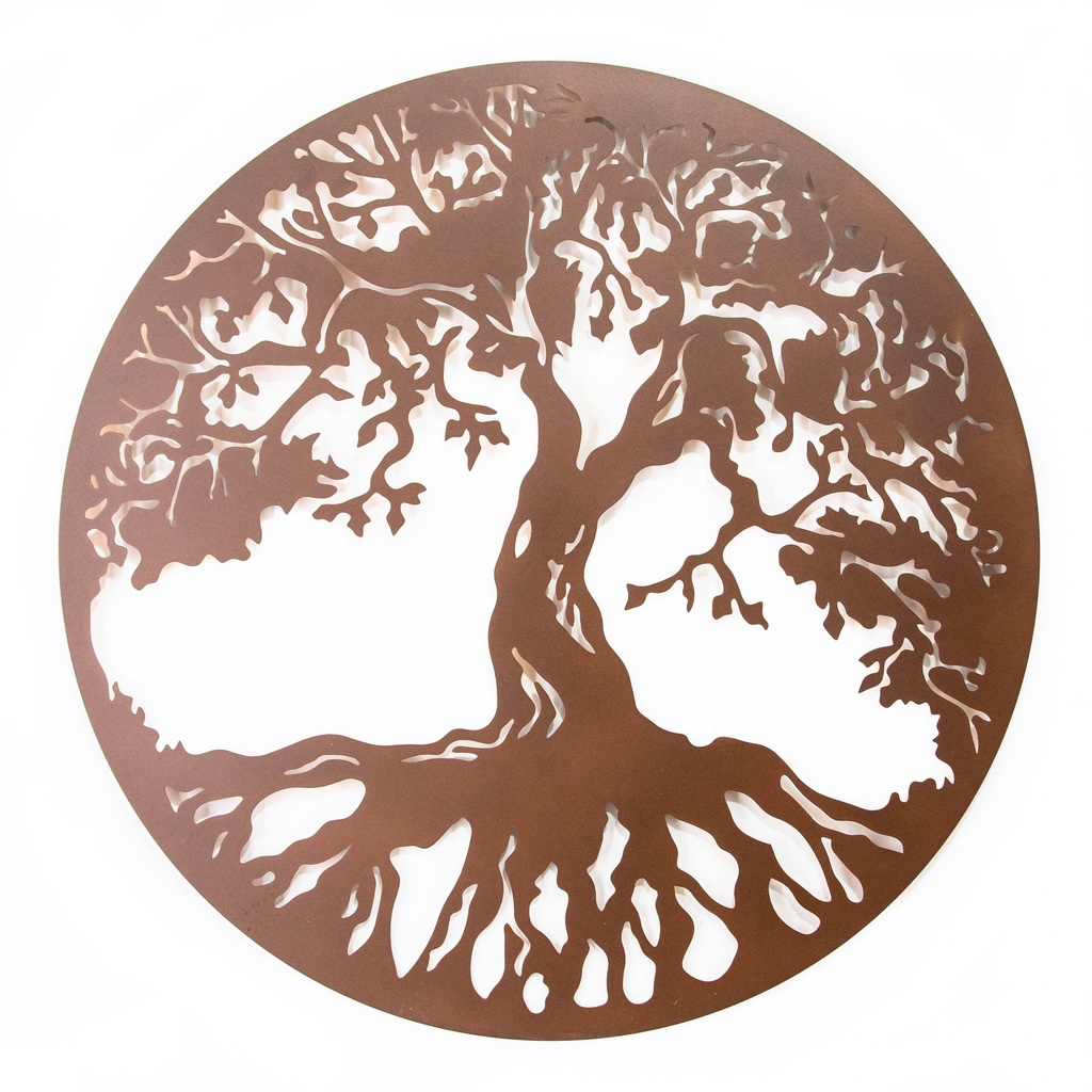 Mandala Árvore da Vida Aço Galvanizado