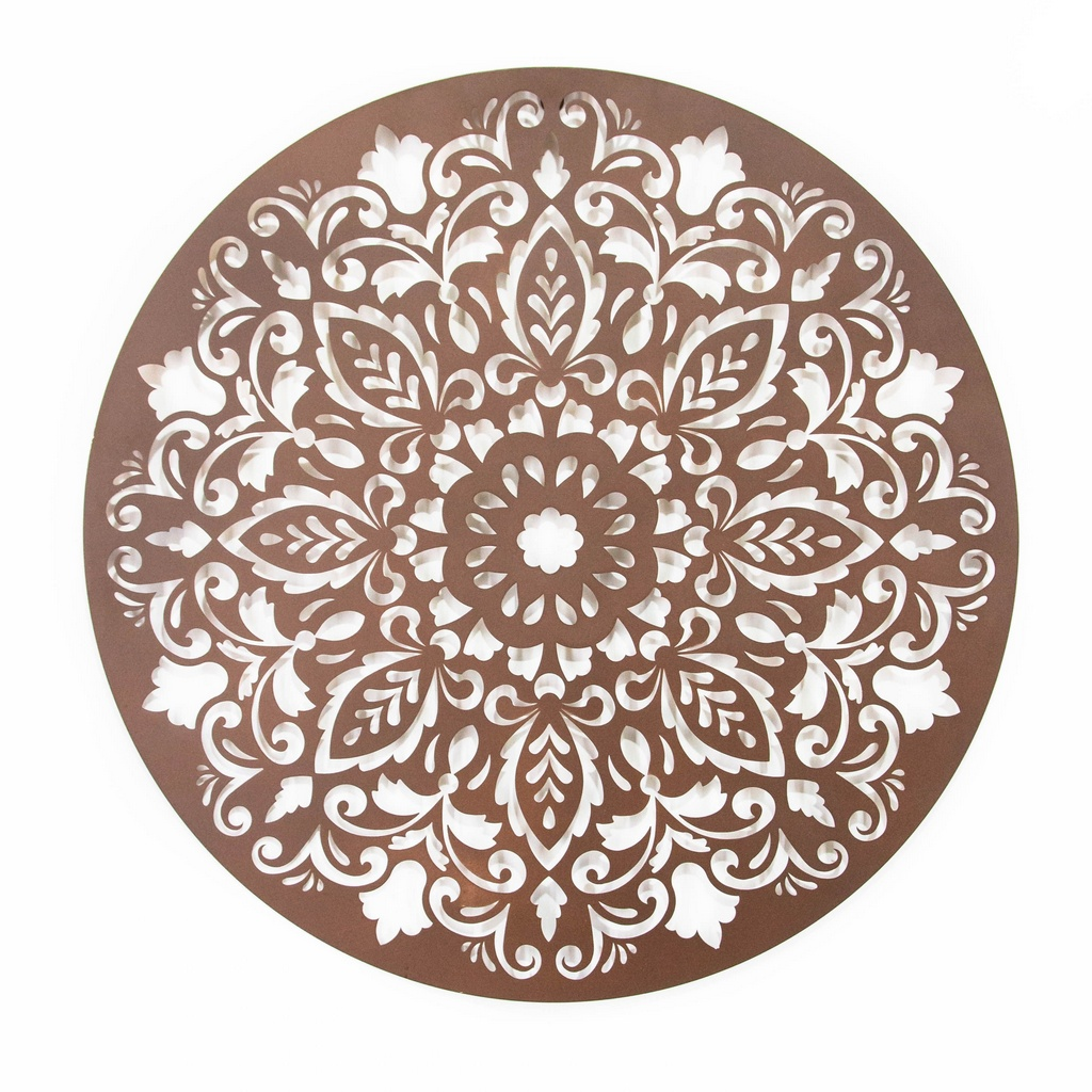 Mandala Flor Arabesco Aço Galvanizado
