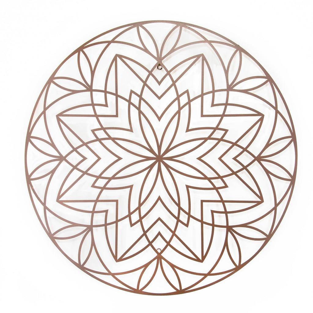 Mandala Flor Geométrica Aço Galvanizado