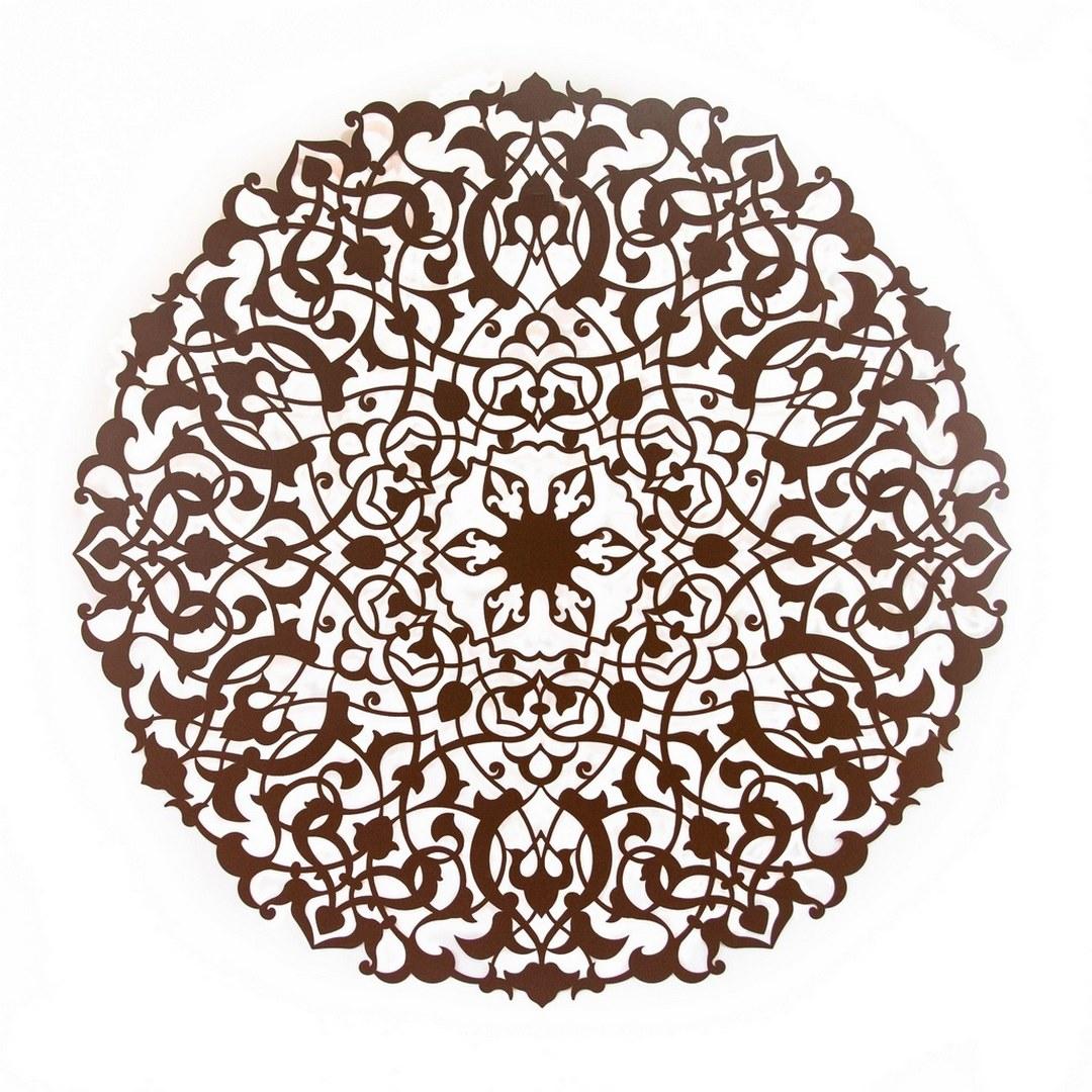 Mandala Hare Aço Galvanizado 120x120cm