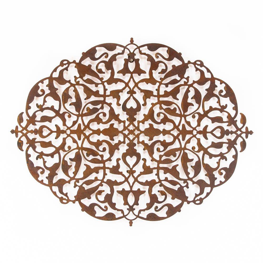 Mandala Oval Aço Galvanizado 120x90cm