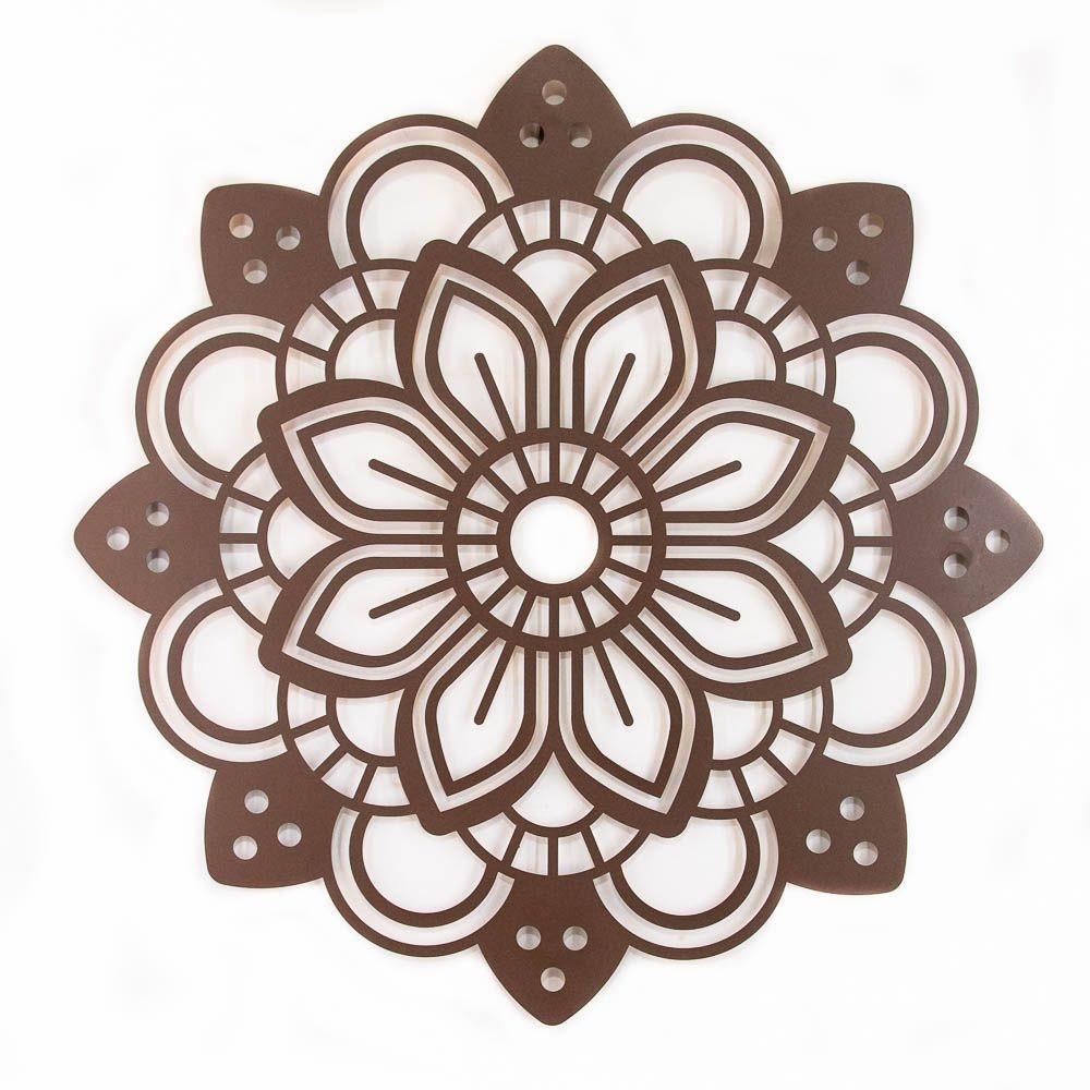 Mandala Pétala Aço Galvanizado