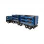 Caminhão Madeira Boiadeiro 65 Cm Bi Trem Plástico