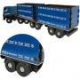 Caminhão Madeira Carroceria Média 65 Cm Bi Trem Plástico