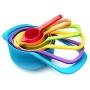 Conjunto 6 Medidores Para Culinária Coloridos e Encaixáveis