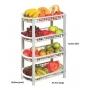 Fruteira De Chão Organizador De Plástico Multiuso 4 Cestos