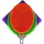 Jogo De Esponjas De Silicone Lavar Legumes Frutas E Louças
