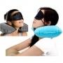 Kit Viagem Inflável Almofada Mascara Protetor P/ Ônibus Avião Carro