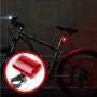 Lanterna Segurança Traseira P/ Bicicleta C/ 5 Leds A Pilha