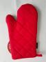Luva Para Cozinha Silicone Térmica Com Neoprene Vermelha Preta