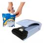 Mini Seladora Manual De Plástico Portátil Pilha Com Imã Base