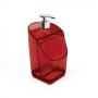 Porta Detergente e Esponja Vermelho Translúcido UZ Dispenser