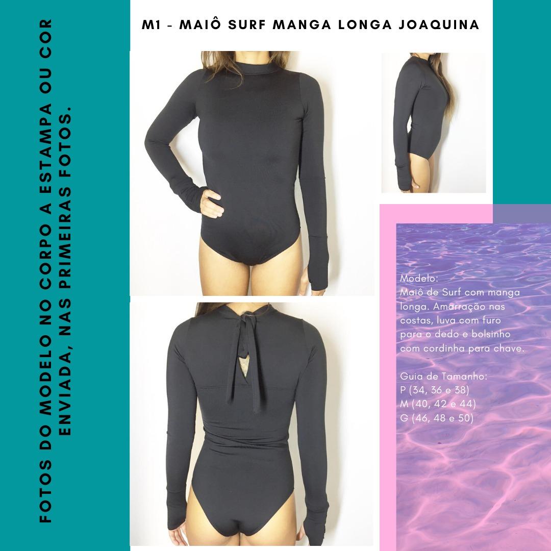 MAIÔ SURF MANGA LONGA JOAQUINA - Cinza e Borboleta