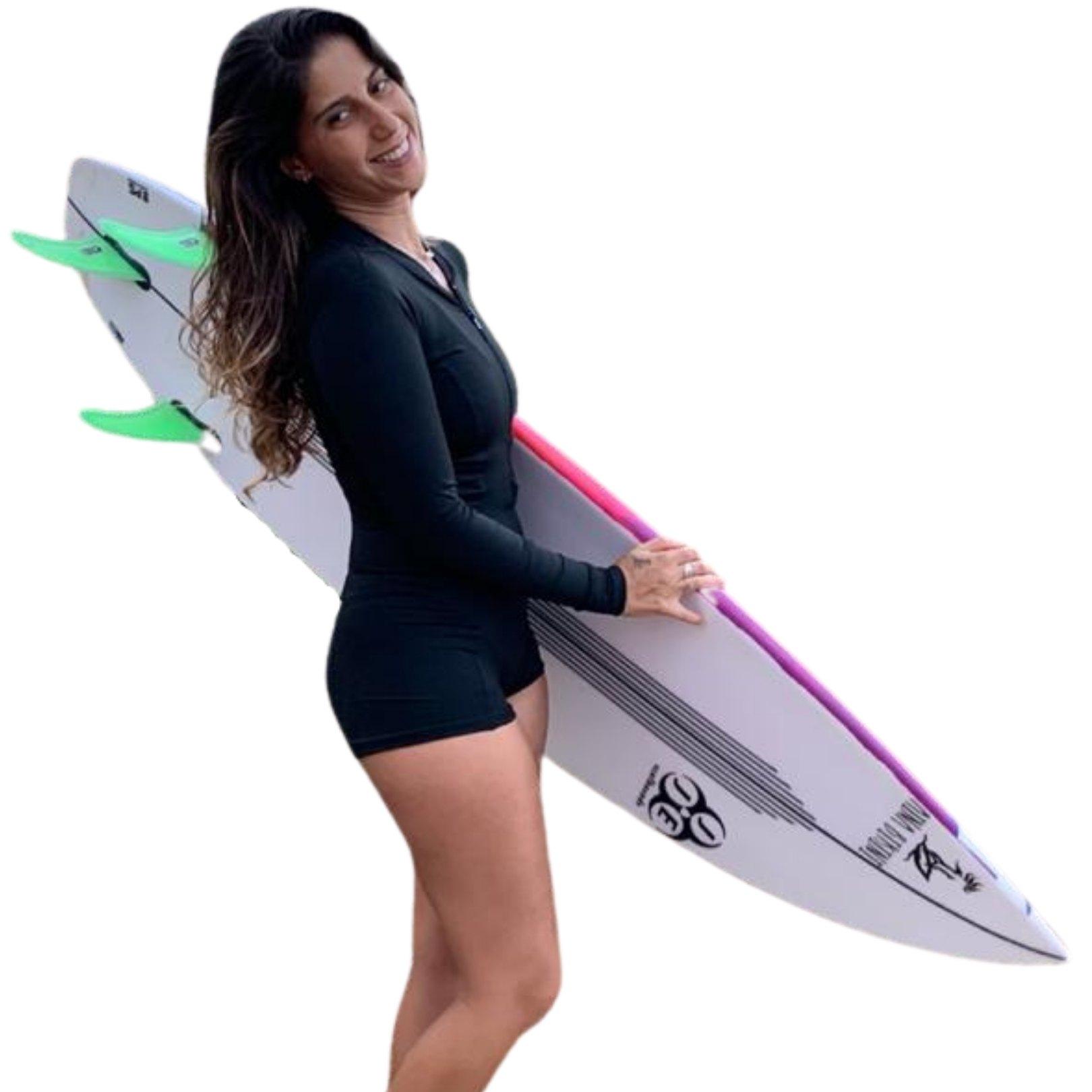 MAIÔ SURF ZÍPER MANGA LONGA ITAÚNA - Preto