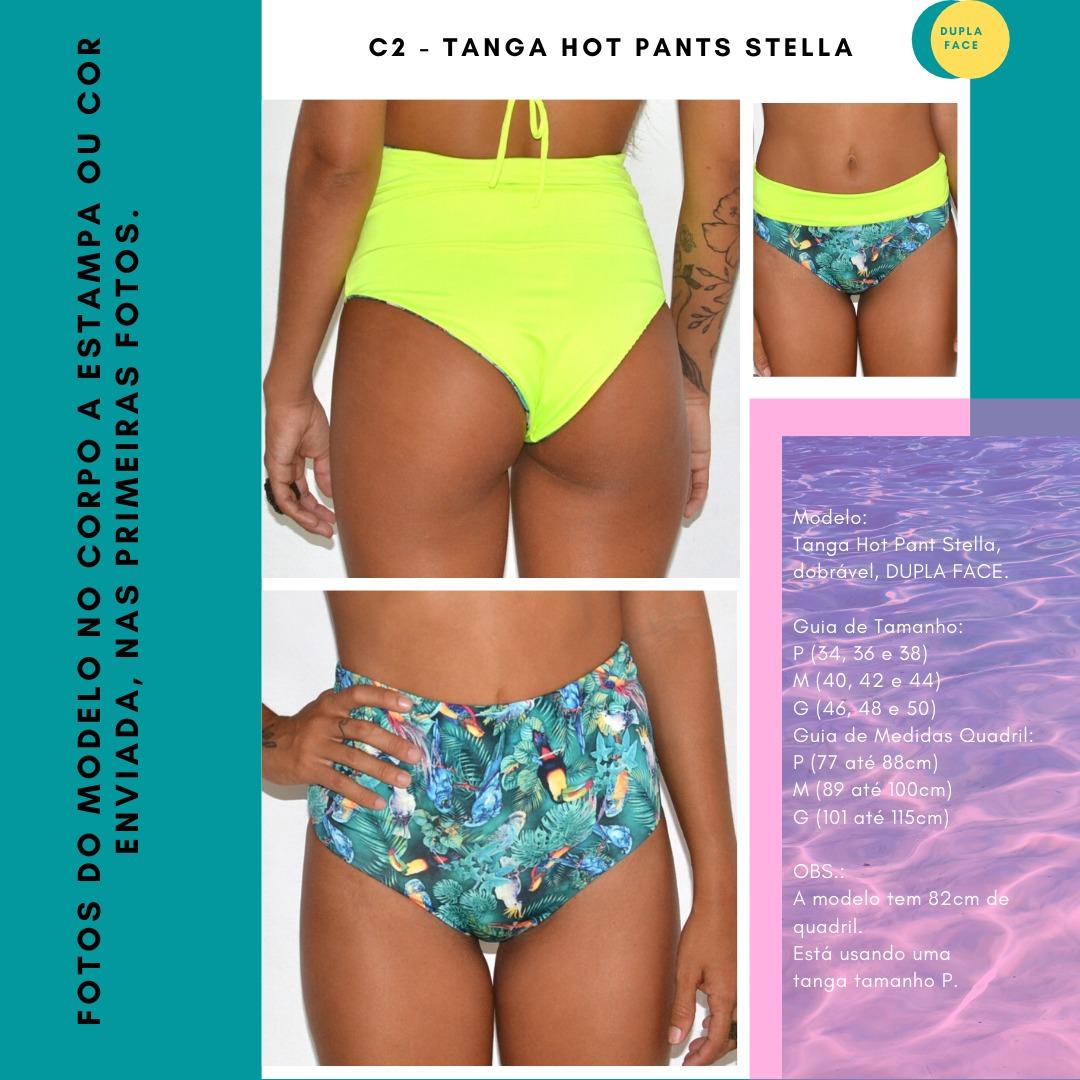 TANGA HOT PANTS STELLA - Preto e Ciclanto