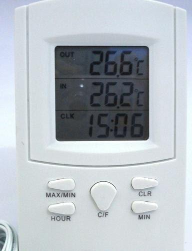 Termômetro Digital Western com Relógio Para Ambiente Interno e Externo  - Thata Esportes