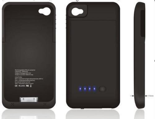 Capa Carregadora para iPhone 4  e 4s - Bateria Extra - Frete Grátis  - Thata Esportes
