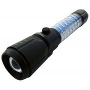 Lanterna T�tica Recarregavel Zoom e Sinalizador - Frete Gr�tis
