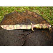 Faca Tática e Sobrevivência Camuflada Rambo - Frete Grátis