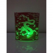 Kit com 2 Abajures Luminárias Dobráveis de LED