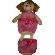 Porta Objetos Organizador Bonequiha com 2 Bolso - Frete Grátis