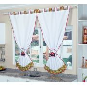 Cortina Branca para Cozinha - Frete Grátis