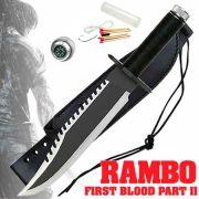 Faca Rambo First Blood Kit Sobrevivência Bússola Bainha