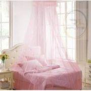 Tela Cortina Mosquiteira Rosa para Camas