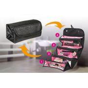 Organizador de Maquiagem Roll - Bolsa Maleta Porta Maquiagem e Utilidades