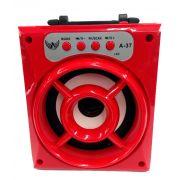 Caixa de Som Recarregável com Bluetooth + Rádio A-37 - Frete Grátis