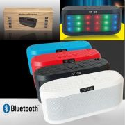 Mini Caixa de Som Bluetooth com luzes