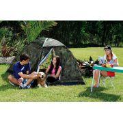 Barraca Cabana Automática Camuflada Camping para 3 pessoas