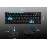 Kit Teclado Sem Fio Multimidia USB e Mouse Sem Fio