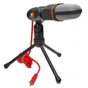 Microfone de Mesa Condensador Mic com Tripé SF-402