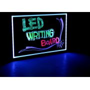 Quadro Painel Luminoso Lousa Quadro LED Neon 22 x 30 cm