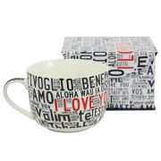 Caneca Tigela I Love You Diversos Idiomas
