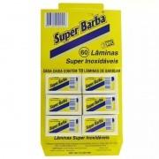 Cartela 60 Lâminas de Barbear Super Inoxidáveis
