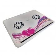 Suporte Apoio com Cooler Pad USB para Laptop Notebook