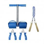 Kit 3 Aparelhos Treino Exercícios | Tummy Trimmer | Corda | Hand Grip