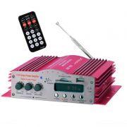 Amplificador Kinter MA200 4CH 4 canais Início Car HIFI Potência de Áudio MP3 com Controle Remoto USB SD MMC DVD