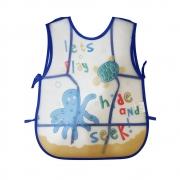 Babador Avental Impermeável com Cata Migalhas para Bebê Infantil Desenho de Animais Marinhos
