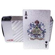 Baralho Prateado a Prova de Água Poker Truco Cartas Jogos
